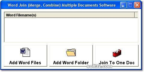 MS Word Join (Merge, Combine) Multiple Documents Software Screenshot 3