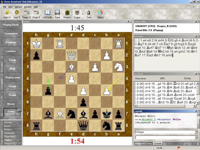 Playing Zone ChessOK Screenshot