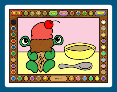 Coloring Book 9: Little Monsters Screenshot