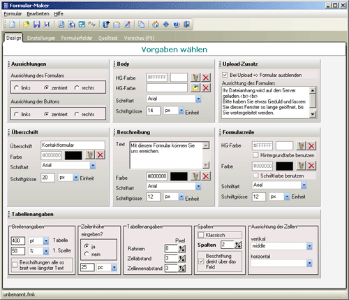 Formular-Maker Screenshot