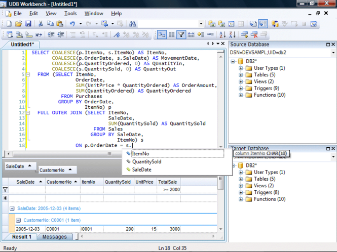 UDB Workbench Screenshot