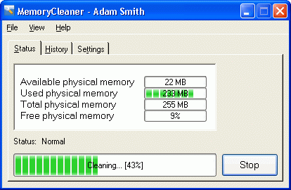 MemoryCleaner Screenshot 1