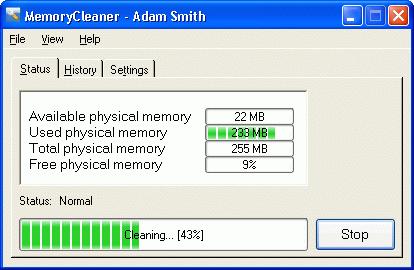 MemoryCleaner Screenshot