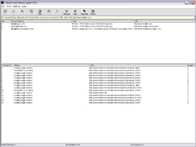 FXstyle Email Address Spider Screenshot 1