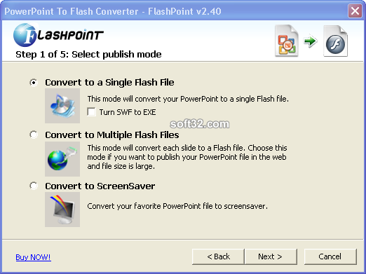 PowerPoint to screensaver Converter Screenshot 3