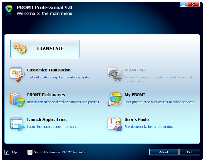 Promt Professional Translator GIANT Screenshot