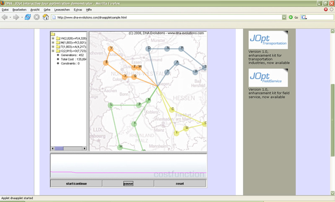 JOpt.SDK - vehicle routing library Screenshot 1