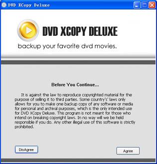 1st DVD XCopy Deluxe Pro Screenshot 1