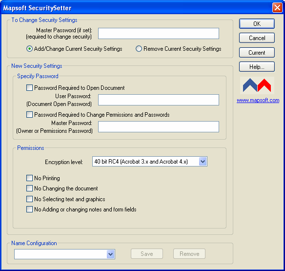 SecuritySetter Screenshot