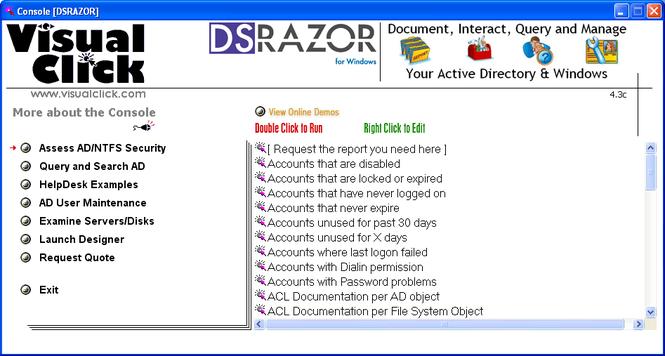 DSRAZOR for Windows Screenshot