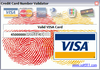 Credit Card Number Validator Screenshot 1