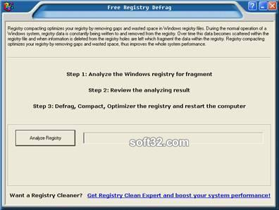 Free Registry Defrag Screenshot 2