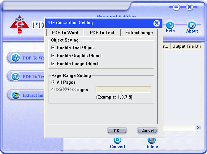 PDF Converter Personal Edition Screenshot 3