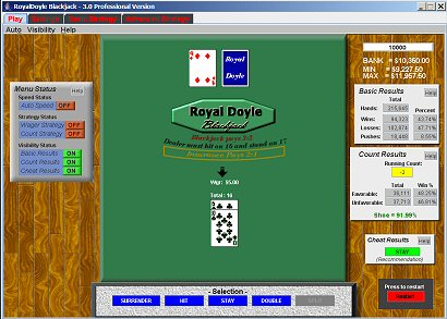 RoyalDoyle Blackjack Analyzer Screenshot