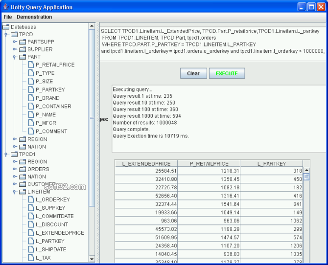 UnityJDBC Screenshot 2
