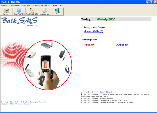 ADC - Bulk SMS Screenshot 1