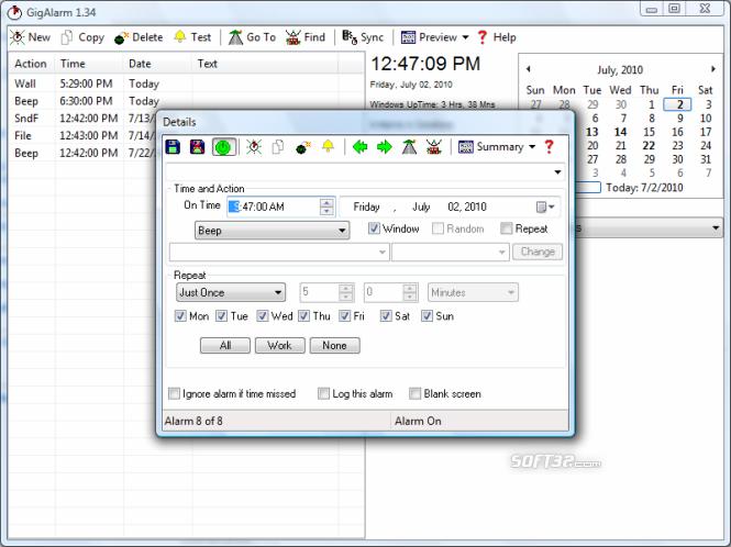GigAlarm Screenshot 3