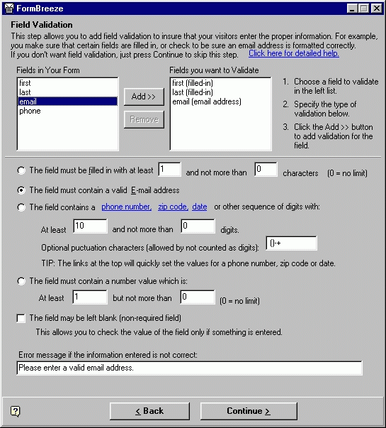 Web Form Processor and Validator Screenshot