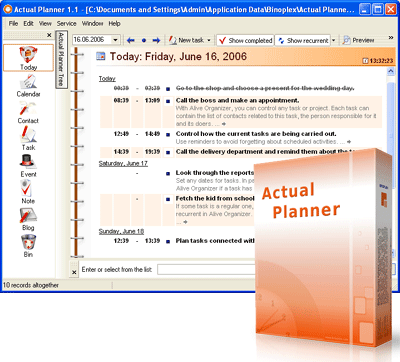 Actual Planner Screenshot 2