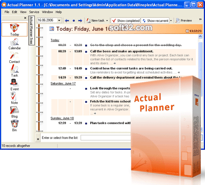 Actual Planner Screenshot 3
