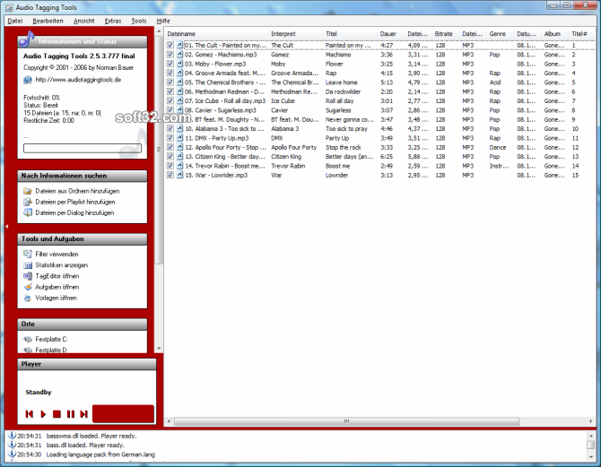 Audio Tagging Tools Screenshot