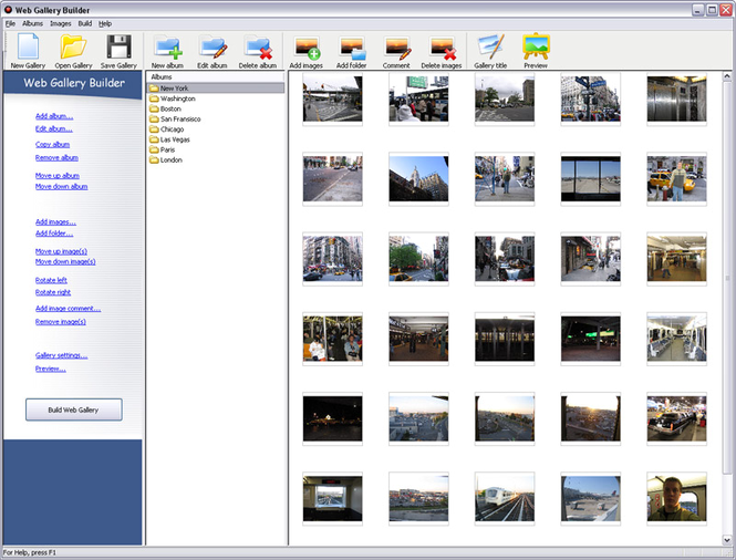 Web Gallery Builder Screenshot