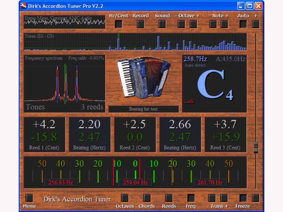 Dirk's Accordion Tuner Screenshot 1