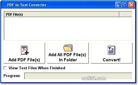 PDF to Text Batch Convert Multiple Files Software Screenshot