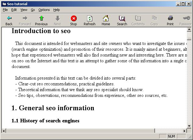 Seo tutorial Screenshot