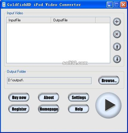 GoldfishHD iPod Video Converter Screenshot 3