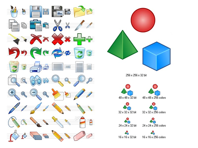 Graphic Icon Set Screenshot 1