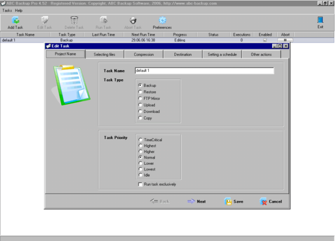 ABC Backup Pro Screenshot