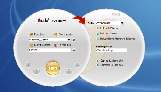 Acala DVD Copy Screenshot