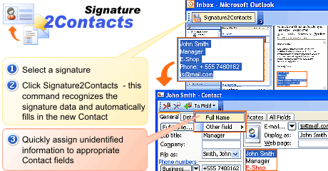 Signature2Contacts for Outlook Screenshot