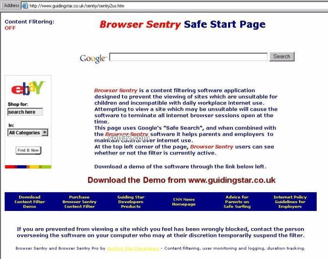 Browser Sentry Content Filter Screenshot 2
