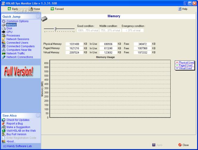 HSLAB Free Sys Monitor Screenshot 5