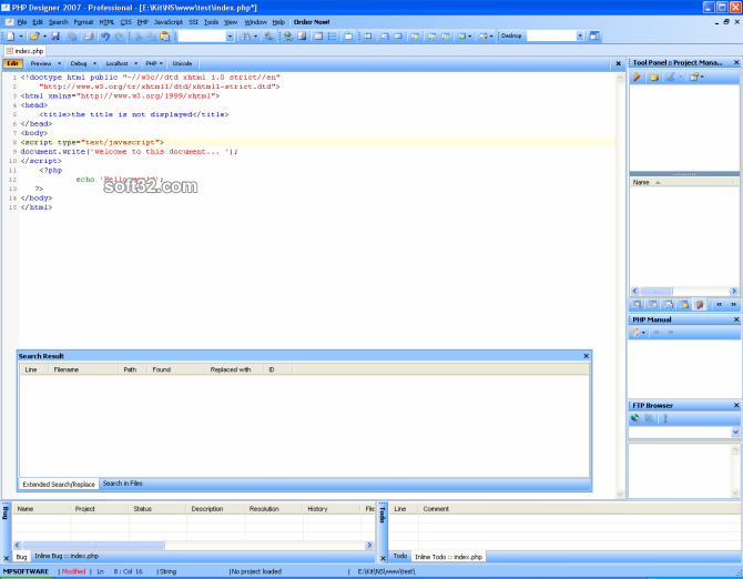php Designer 7 Screenshot