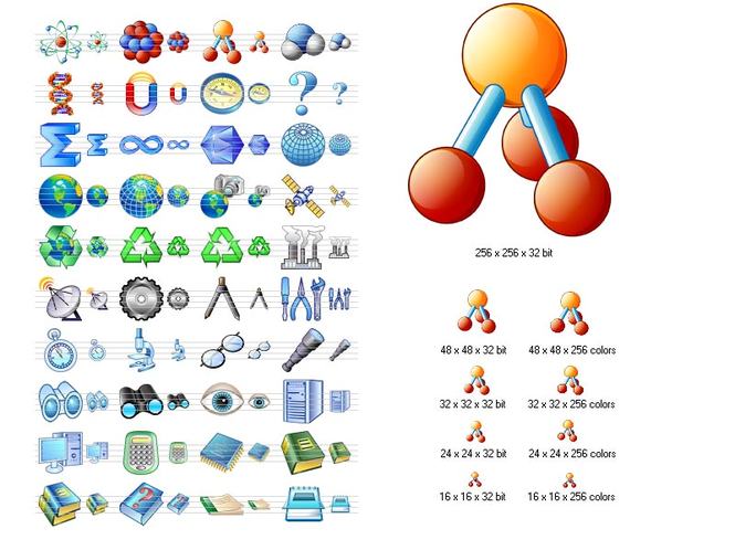 Science Icon Set Screenshot 1