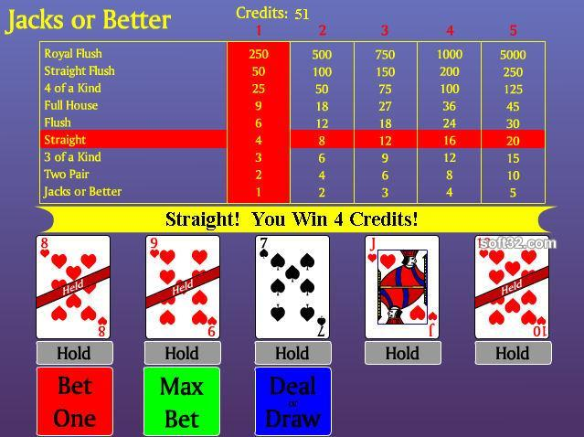 Video Poker - Jacks or Better Screenshot 3