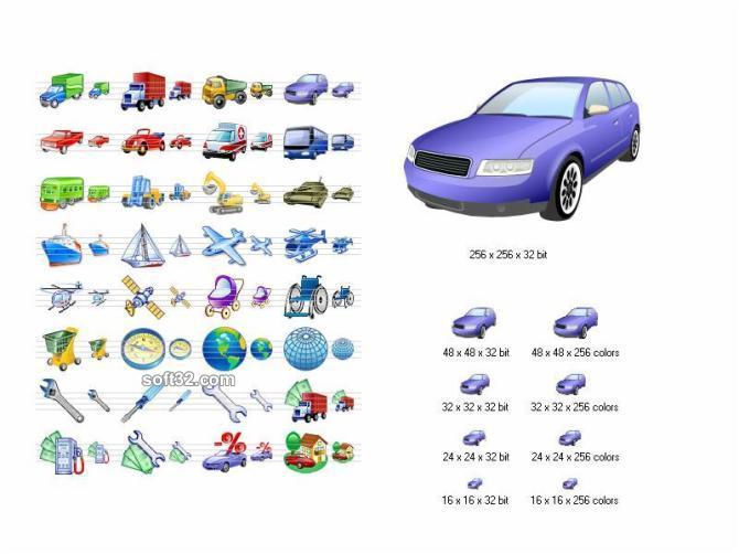Transport Icon Set Screenshot 3