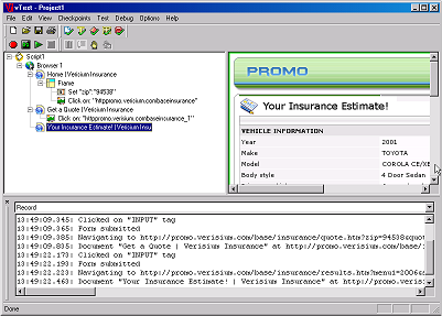 vTest Screenshot