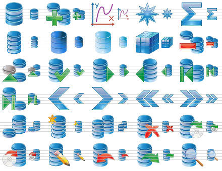 Database Icon Set Screenshot