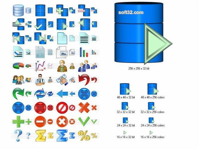 Database Icon Set Screenshot 3