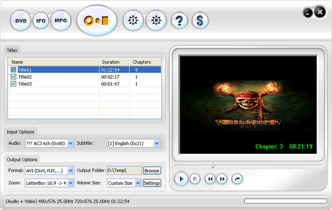 123 DVD Ripper Screenshot