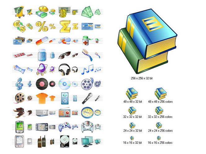 i-Commerce Icon Set Screenshot 1