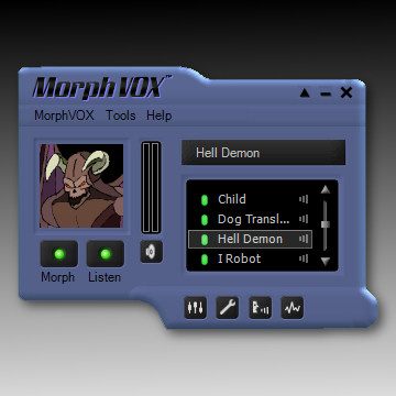 Blue Satin Skin - MorphVOX Add-on Screenshot