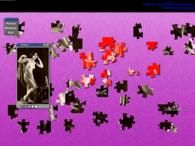 19th Century Nude Glamour Girls Puzzle Screenshot 3