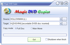 Maggic DVD Copier Screenshot
