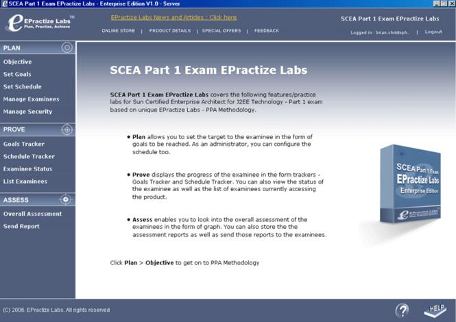 SCEA Part 1 Exam EPractize Labs Screenshot