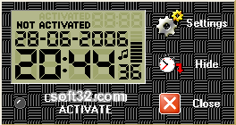 SourceBG DigitClock Screenshot 2